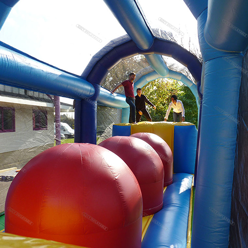 Pvc Wipeout Inflatable Obstacle Course