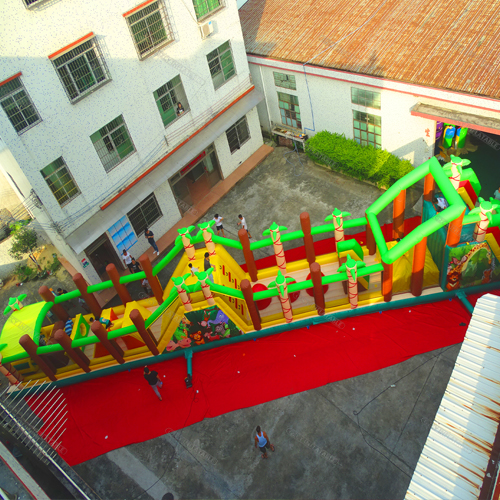 Inflatable Tropical Obstacle Course