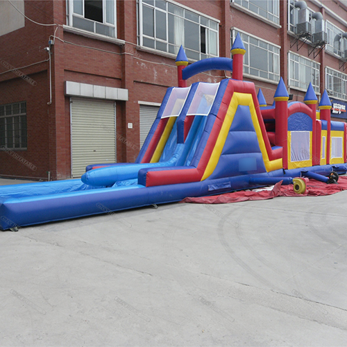 Double Slide Inflatable Obstacle Course