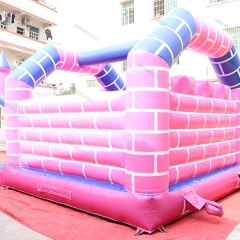 Pink Inflatable Bouncer Castle