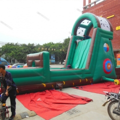 Outdoor inflatable obstacle course