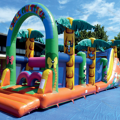 Inflatable game obstacle course
