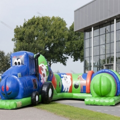 Funny game inflatable kids obstacle course