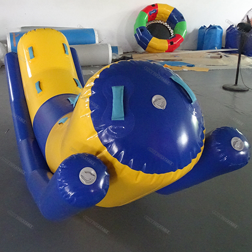 Inflatable seesaw water toy