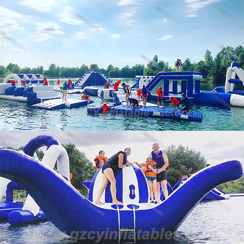 Uk Inflatable Floating Aqua Water Park