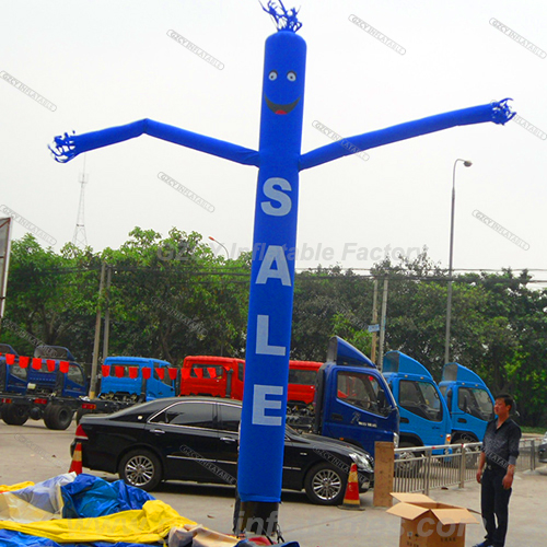 Promotion event logo printing one leg Inflatable giant air dancer