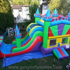 3 in 1 Bounce House Colorful Castle Combo Dry
