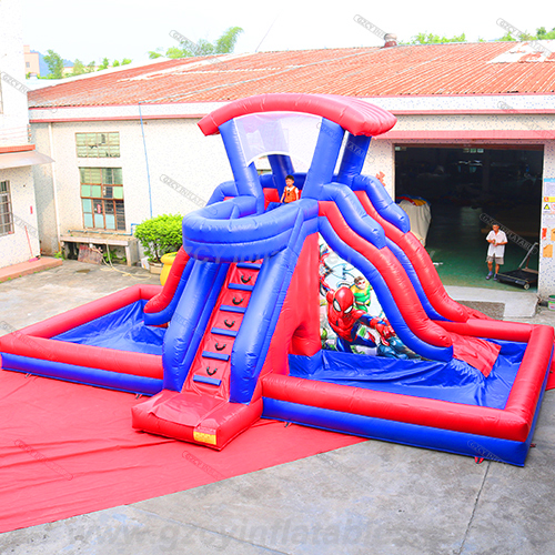 Spider Man Amusement Water Slide
