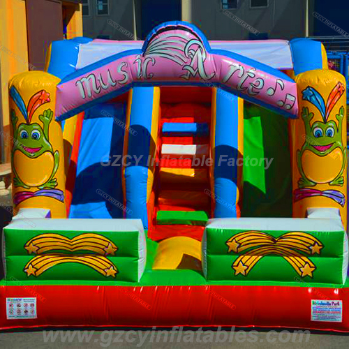 Cartoon Double Lane Inflatable Slide