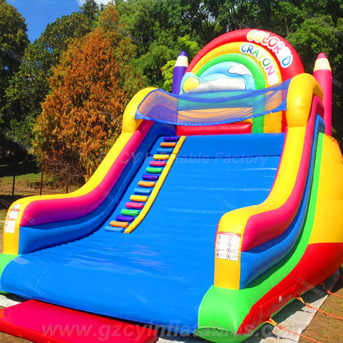 Crayon Inflatable Slide