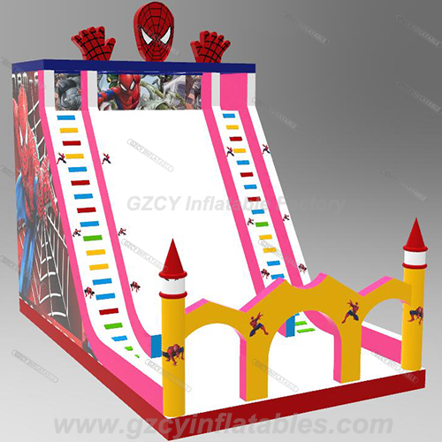 Newest Spiderman Inflatable Amusement Slide