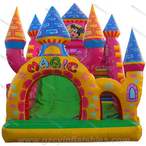 Mickey Castle Inflatable Slide