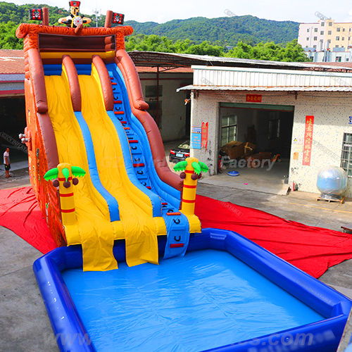 Inflatable Pirate Slide With Pool
