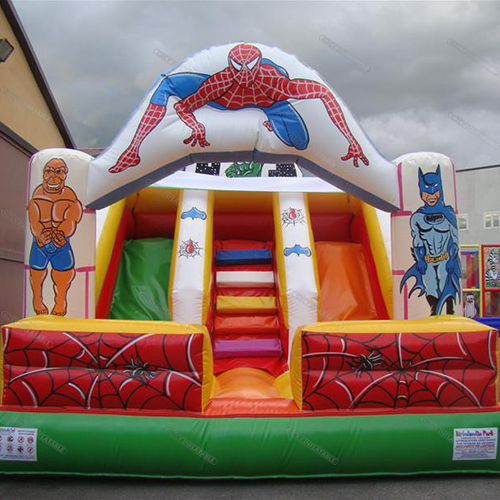 Inflatable Spiderman Slide For Children
