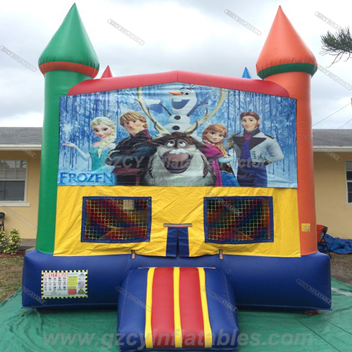 Frozen inflatable jump bouncer
