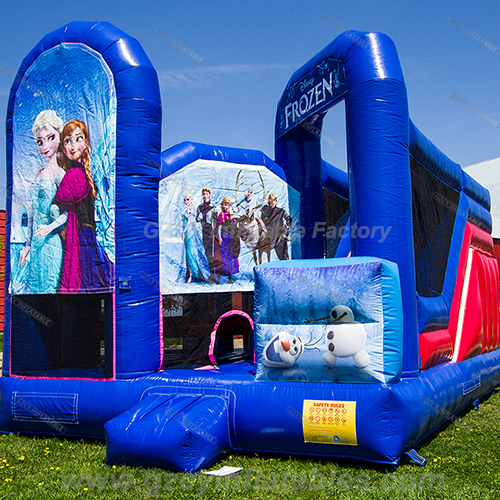 Commercial Frozen inflatable bouncer castle