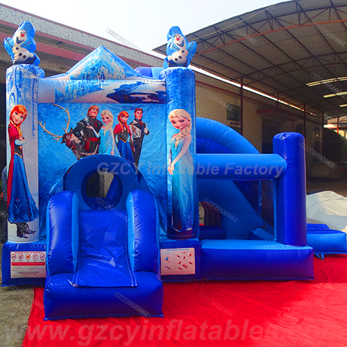 Frozen inflatable bouncer castle