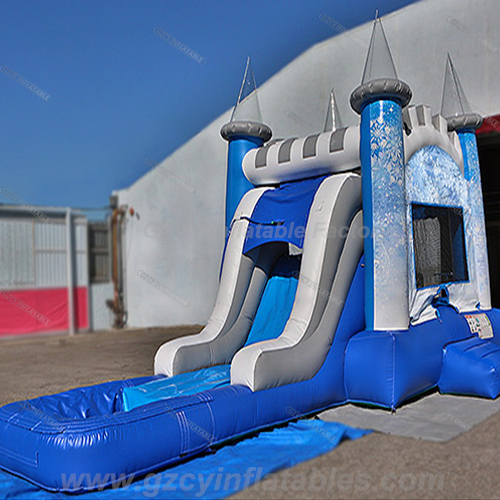 Frozen Inflatable Bouncer With Water Slide