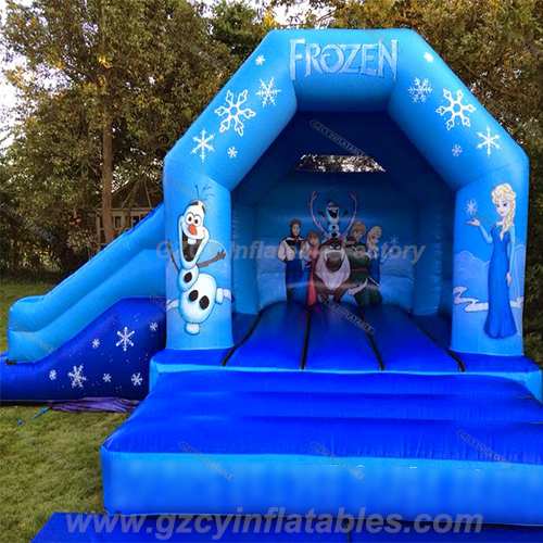 Frozen Inflatable Bouncer With Slide