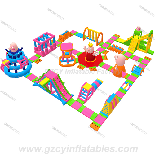 Peppa Pig Inflatable Aqua Park Water Park For Sea